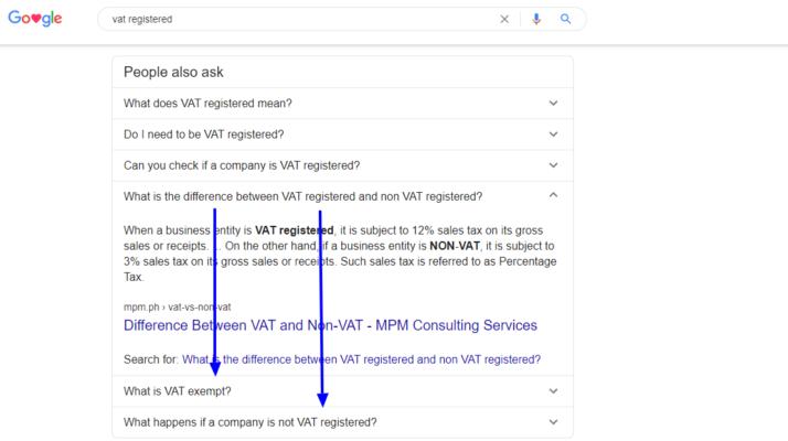 vat registered on Google